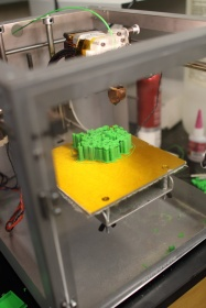 Miguel Strunk 3D printing a membrane protein.